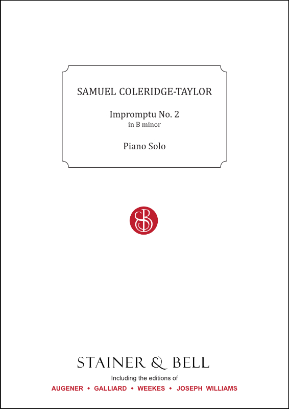 Coleridge-Taylor, Samuel: Impromptu No. 2 In B Minor. Piano Solo