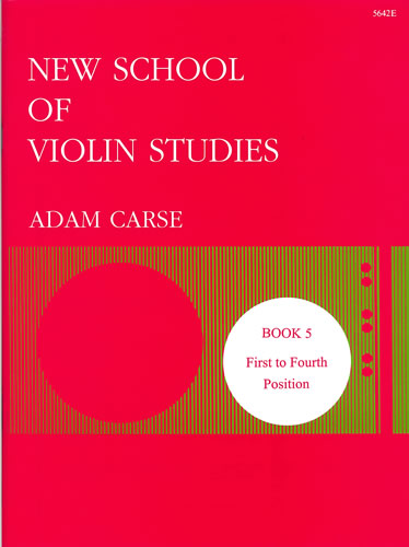 Carse, Adam: New School Of Violin Studies. Book 5