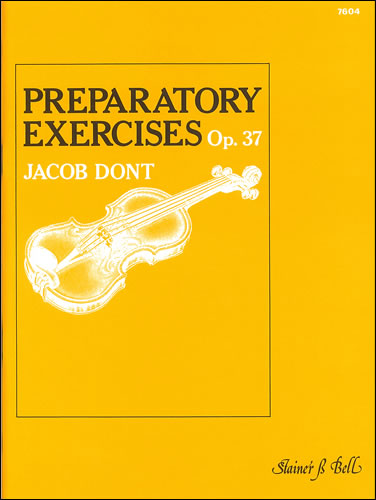 Dont, Jacob: Exercises, Op. 37
