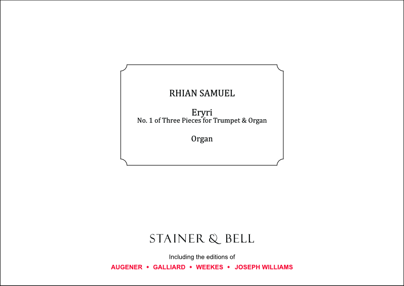 Samuel, Rhian: Eryri (No. 1 Of Three Pieces For Trumpet & Organ)