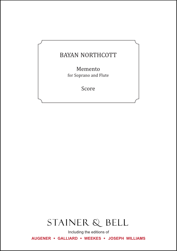 Northcott, Bayan: Memento For Soprano And Flute