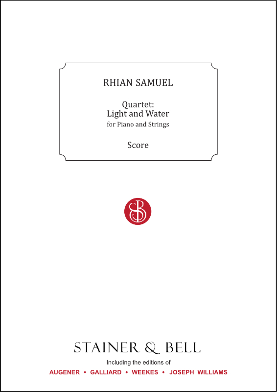 Samuel, Rhian: Quartet: Light And Water