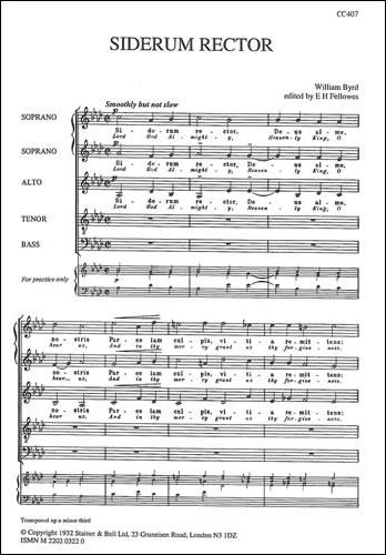 Byrd, William: Siderum Rector (Lord God Almighty)