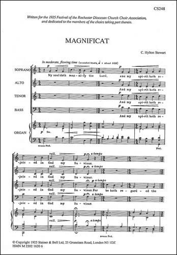 Stewart, C Hylton: Magnificat And Nunc Dimittis In C