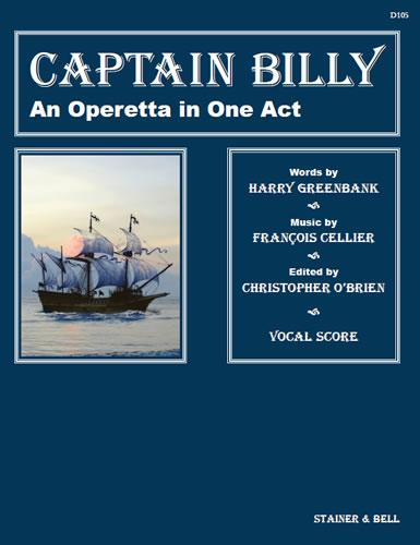 Cellier, François: Captain Billy. Vocal Score