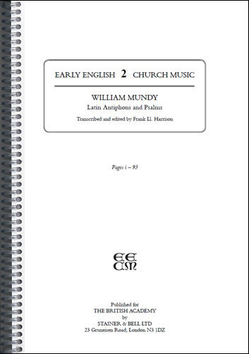 Mundy, William: Latin Antiphons And Psalms