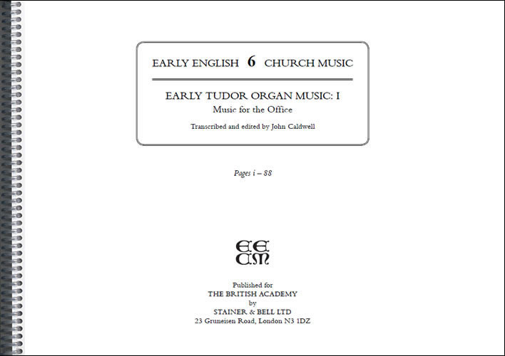 Early Tudor Organ Music: I: Music For The Office