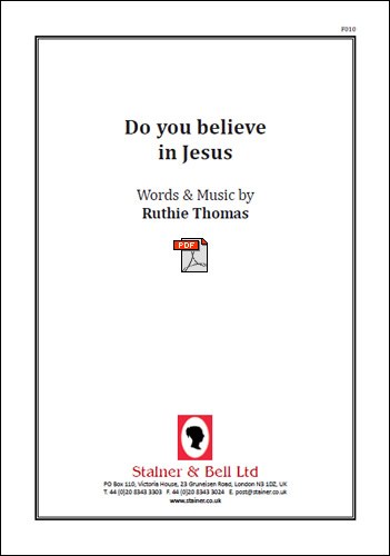 Thomas, Ruthie: Do You Believe In Jesus? PDF File