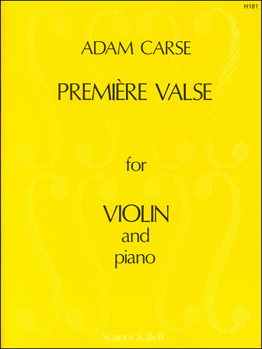 Carse, Adam: Première Valse For Violin And Piano