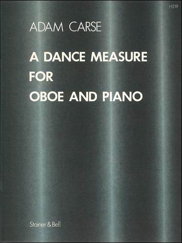 Carse, Adam: A Dance Measure For Oboe And Piano