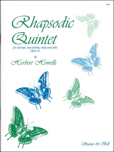 Howells, Herbert: Rhapsodic Quintet, Op. 31. (1917) Clarinet, Two Violins, Viola And Cello