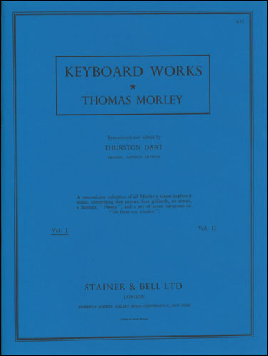 Morley, Thomas: Complete Keyboard Music. Book 1