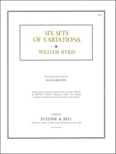 Byrd, William: Six Sets Of Variations From Musica Britannica