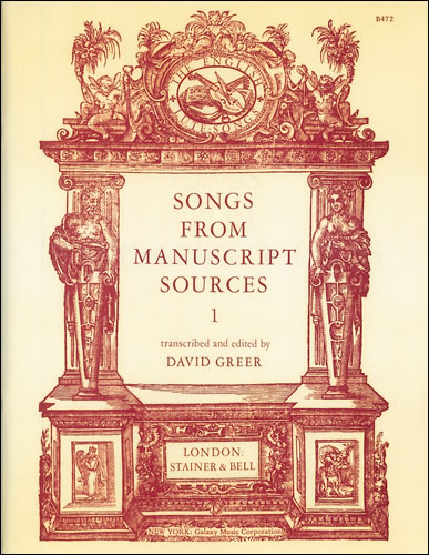 Songs From Manuscript Sources: 1
