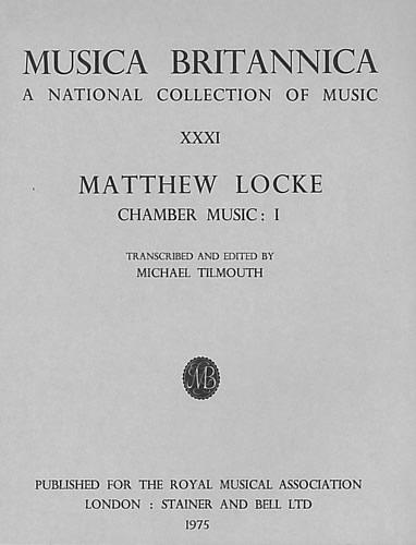Locke, Matthew: Chamber Music I