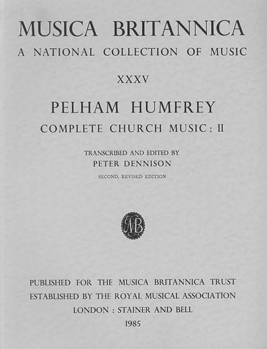 Humfrey, Pelham: Complete Church Music II