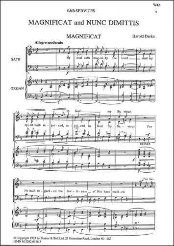 Darke, Harold: Magnificat And Nunc Dimittis In F