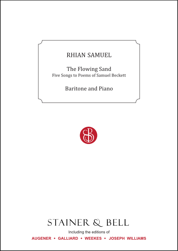Samuel, Rhian: The Flowing Sand. Baritone And Piano