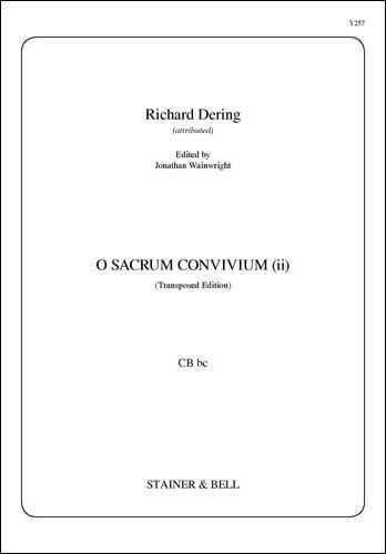 Dering, Richard: O Sacrum Convivium (ii) (Transposed Edition) CB Bc