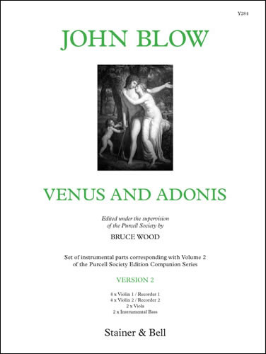 Blow, John: Venus And Adonis. Version 2. Instrumental Parts