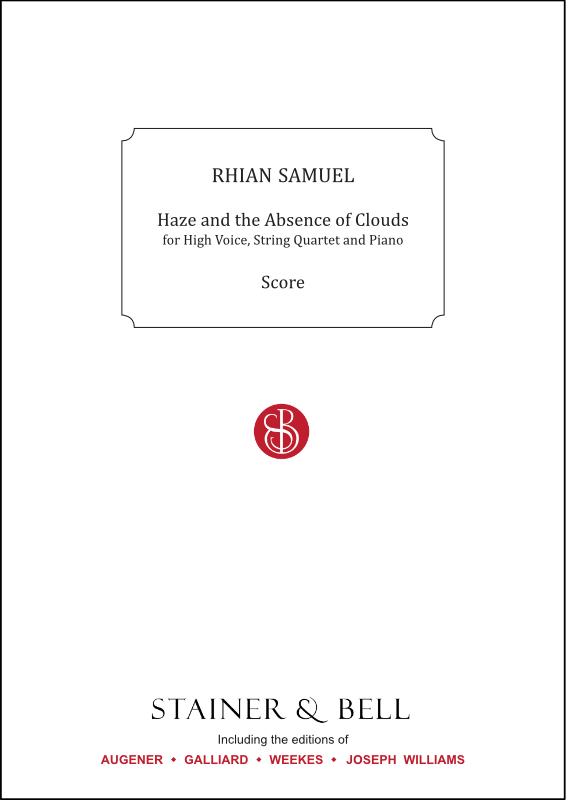 Samuel, Rhian: Haze And The Absence Of Clouds