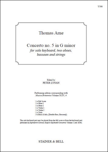 Arne, Thomas: Concerto No. 5 In G Minor