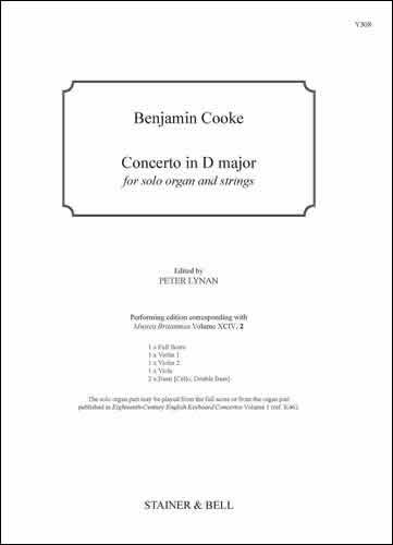 Cooke, Benjamin: Concerto In D Major. Score And Parts