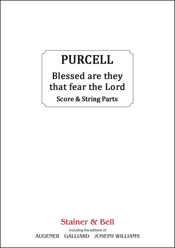 Purcell, Henry: Blessed Are They That Fear The Lord. Score & String Parts