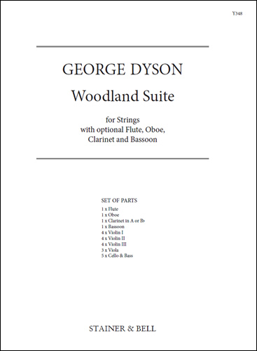 Dyson, George: Woodland Suite For Strings. Set Of Parts
