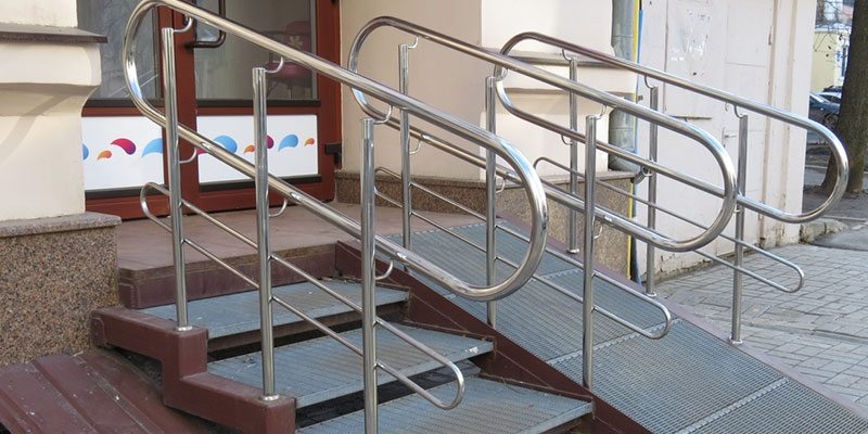 Intro To Handicap Handrails Stainless Outfitters Inc   Handicap Handrails For Stairs   Grab Bars   Deck Railing   Stainless Steel   Ada Compliant   Wheelchair Ramp
