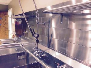 Stainless Steel Tile in a Commercial Kitchen