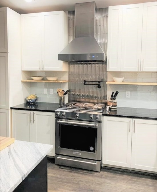 1 X 12 Stainless Steel Backsplash Project M4 1 1