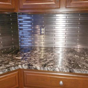 1 X 12 Stainless Steel Backsplash Project M5