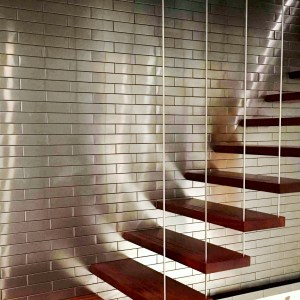 2.5x12 Stainless Steel Stair Wall 8