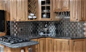 2.5x6 Accent Woven Stainless Steel Backsplash Project L2 2 1