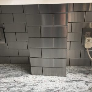 2.5x3 stainless steel tile
