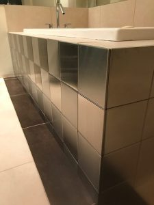 6x6 Stainless Steel Bathroom Tile