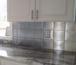 "6""x6"" 3D Stainless Steel Tile for 3D Metal Tile Backsplash by US Manufacturer StainlessSteelTile.com"