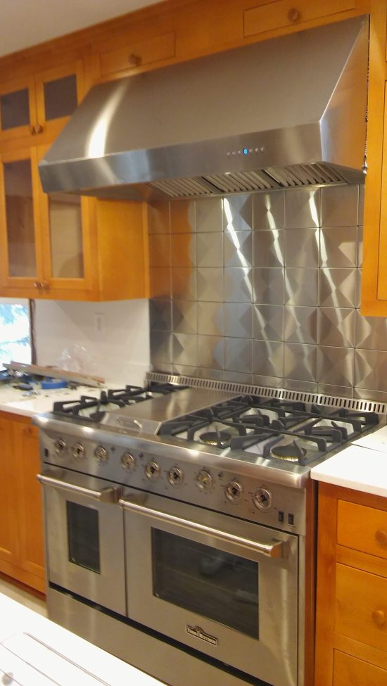 6x6 Stainless Steel Tile Backsplash Project H6 1