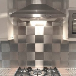 6x6 Stainless Steel Tile Backsplash Project H8 1