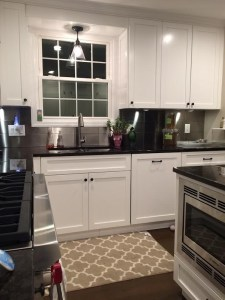 Beautiful Kitchen Makeover Featuring a 6 x 12 Stainless Steel Tile