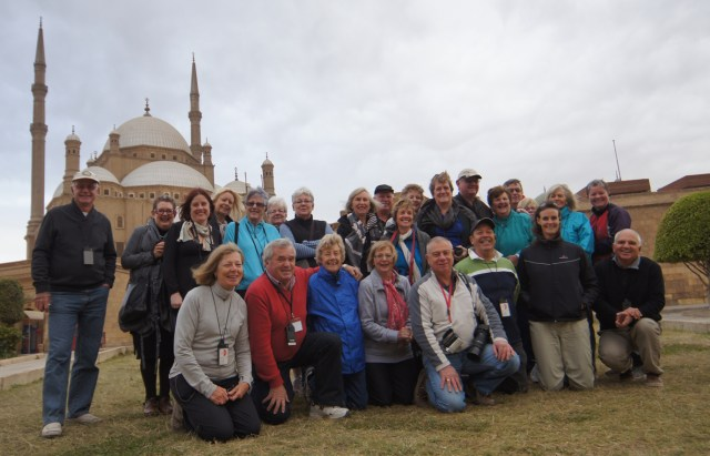 The group in front of the Mosque of Muhammad Ali (Alabaster Mosque), Cairo