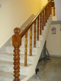 wooden handrails for stairs interior  Staircase design