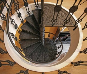 spiral staircase old house