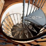 Spiral staircase made of cast iron, its price is huge