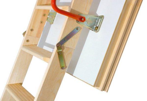 Крепеж чердачной лестницы