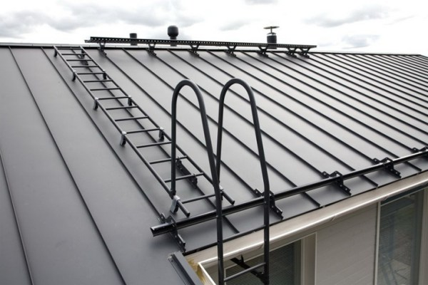Ladder for roof from modules