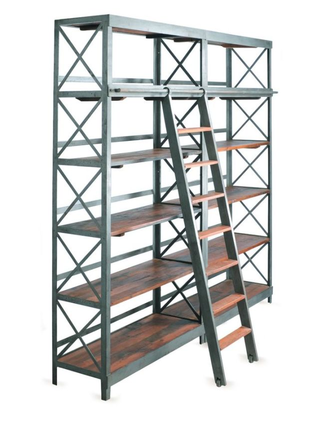 bookcases with sliding ladders