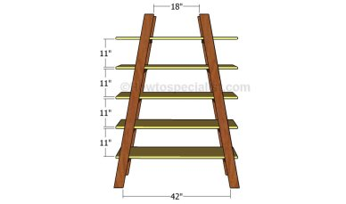 building ladder shelves