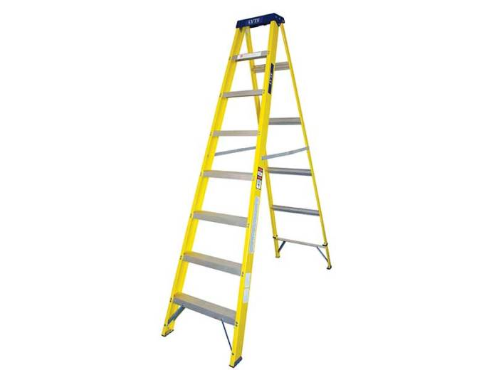 stepladders range from size
